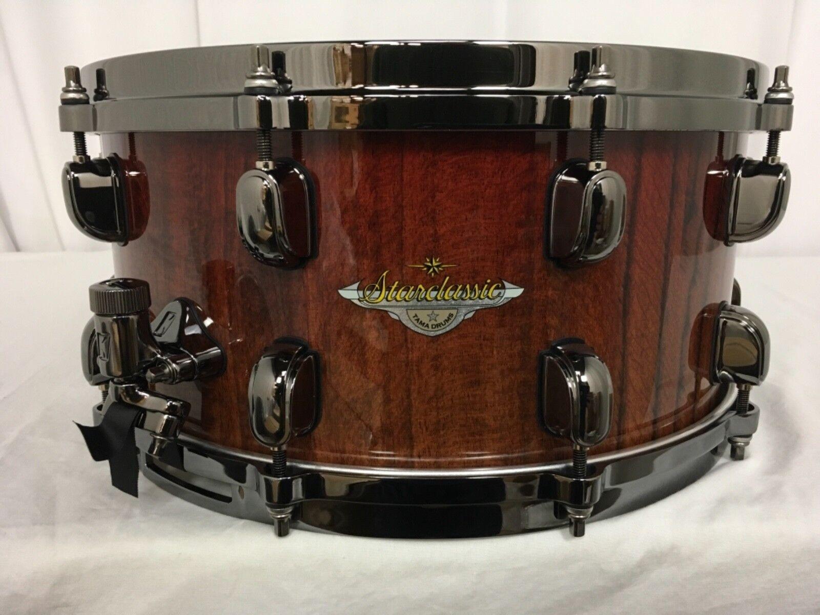 Tama Starclassic Bubinga 14  Dia. X 6.5  Deep Snare Crimson Tigerwood Fade New