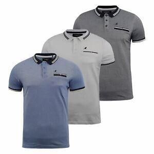 Mens-Polo-Shirt-kangol-Short-Sleeve-T-Shirt-Top-Rumi