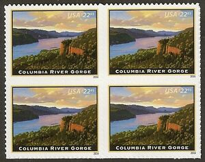 US 5041 Express Mail Columbia River Gorge $22.95 block (4 stamps) MNH 2016
