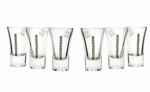Le Monde Cadeaux, Swarovski Jeweled Crystal Vodka Shot Glasses, 6-Piece Set