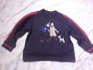Tintin-Sweat-Shirt-Herge-Moulinsart-size-Age-4