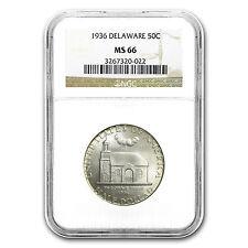 1936 Delaware Half Dollar MS-66 NGC - SKU #10834