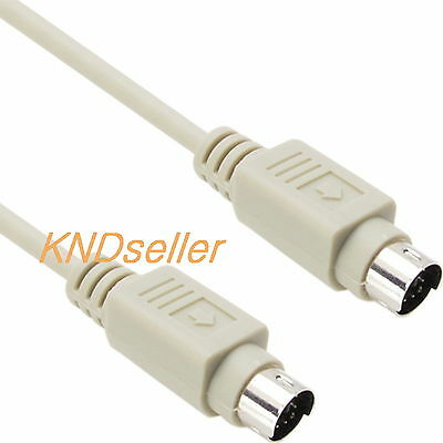 Straight PS//2 Extension Cable MiniDin6 Male to MiniDin6 Female 6 Conductor 10 Foot Keyboard//Mouse PS//2 Male to PS//2 Female