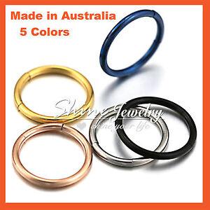 Body-Piercing-Ear-Lip-Nose-Ring-316L-Steel-Seamless-Segment-Septum-Captive-Hoop