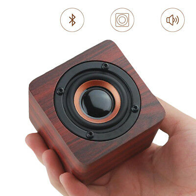 Wireless Bluetooth Speaker Super Bass Wooden Loudspeaker Mini Stereo Subwoofer