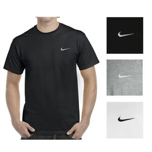Nike-Men-039-s-Short-Sleeve-Athletic-Wear-Embroidered-Swoosh-Workout-Active-T-Shirt