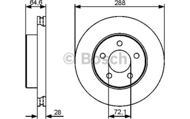 5 Año De Garantía Bosch Delantero Discos De Freno De 2x 0986479914-Nuevo-Original