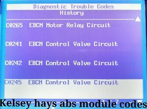 Details about 2002 GMC YUKON WITH A KELSEY HAYS 325 ABS Module TEST AND  REPAIR EBCM