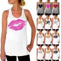 Ladies Summer Print Vest Top Sleeveless Shirt Blouse Tank Tops T-Shirt Size 6-16
