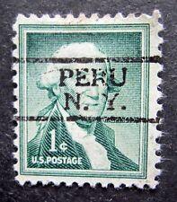 Sc # 1031 ~ 1 cent Liberty Issue, Washington, Precancel, PERU N.Y.