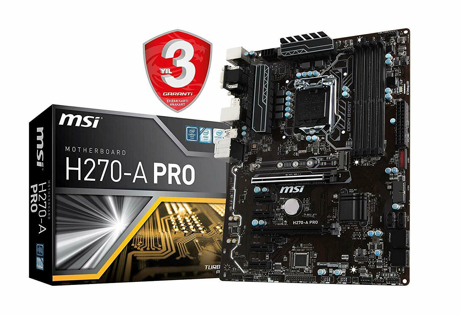 MSI H270-A PRO Motherboard Crytocurrency BTC Intel H270/ ATX Motherboard 1