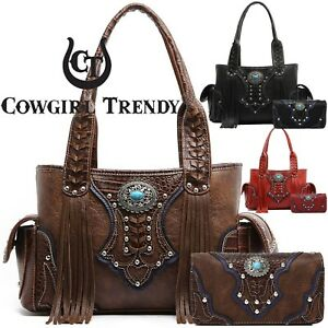 Image is loading Western-Cowgirl-Concealed-Carry-Purse-Fringe-Handbags-Women - bb6fab758dede