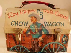 Roy Rogers Chow Wagon Metal Lunch Box