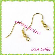 50 PCS.23 MM EARWIRE SILVER PLATED BRASS W//3MM BALL /& COIL USA BM260SP
