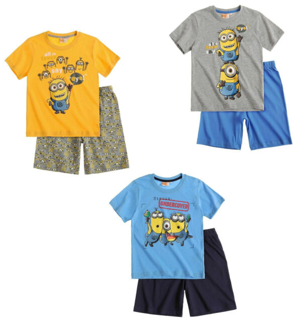 Minions Shorty Kollektion 2016 Pyjama Shorty Schlafanzug  Gr. 116 - 152