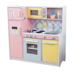 Kidkraft 53181 Kids Pretend Play Large Wooden Kitchen Pastel