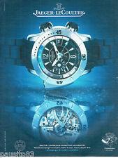 PUBLICITE ADVERTISING  016  2008  Jaeger-Lecoultre montre Master compressor Divi