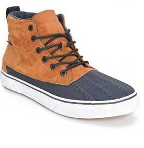 1740a31e318598 NEW IN BOX MEN S US 8 9 VANS SK8-HI DEL PATO MTE GINGER   NAVY SKATE ...