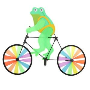 Image Is Loading Animal Frog On Bike Windmill Wind Wheel Whirligig