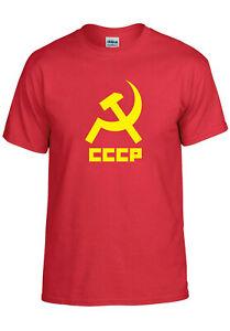 CCCP-Unione-Sovietica-Rivoluzione-Russa-Comunista-Uomini-Donne-Unisex-T-shirt-3483