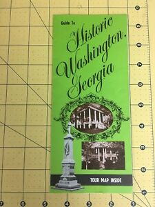 Washington Georgia Map.Vintage Travel Brochure Guide To Historic Washington Georgia Tour