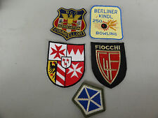 US MILITARY PATCHES SET OF 5 DIFFERENT FIOCCHI BOWLING V CORP OLDER GERMAN MADE