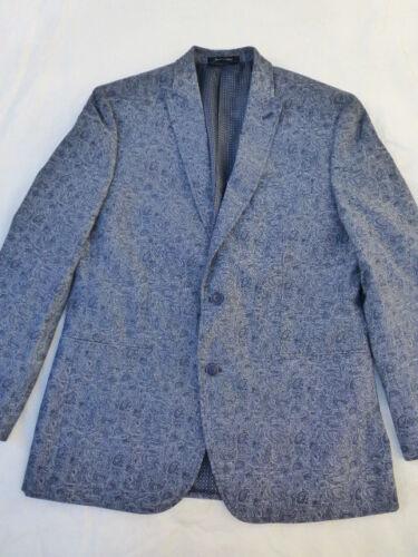 NWT MENS VAN HEUSEN STUDIO JACKET SPORT COAT BLAZER $195 BLUE PAISLEY