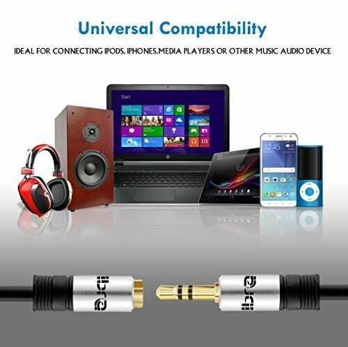 IBRA® 10m Stereo Jack Extension Cable 3.5mm Male > 3.5mm Female - Silver