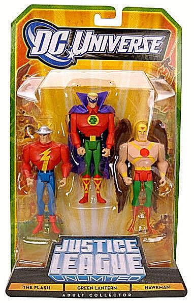 DC Universe_Justice League League League Unlimited_The FLASH_verde LANTERN_HAWKMAN figures_MIP abc943