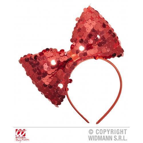 Onorevoli rosso con paillettes e fiocco sulla fascia Lady Gaga Dorothy Costume