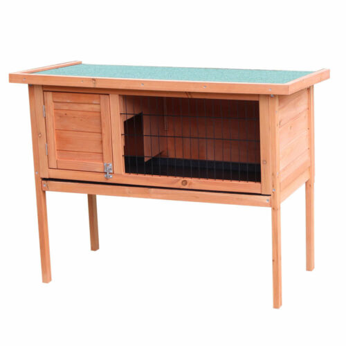"""New 36/"""" 40/"""" 48/"""" Wooden Rabbit Hutch Chicken Coop Hen House Poultry Pet Cage"""