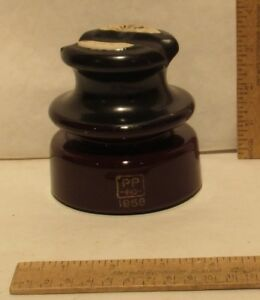 Ceramic Insulator Marked Pp Inc 1958