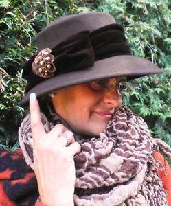 Damen-accessoires Hüte & Mützen MüHsam Damen Hut Wollhut Winterhut Herbsthut Damenhüte Mützen Anlasshüte Elegant Schick