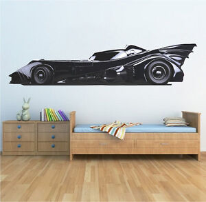 Image Is Loading Batman Wall Decal Kids Bedroom Batman Batmobile Car
