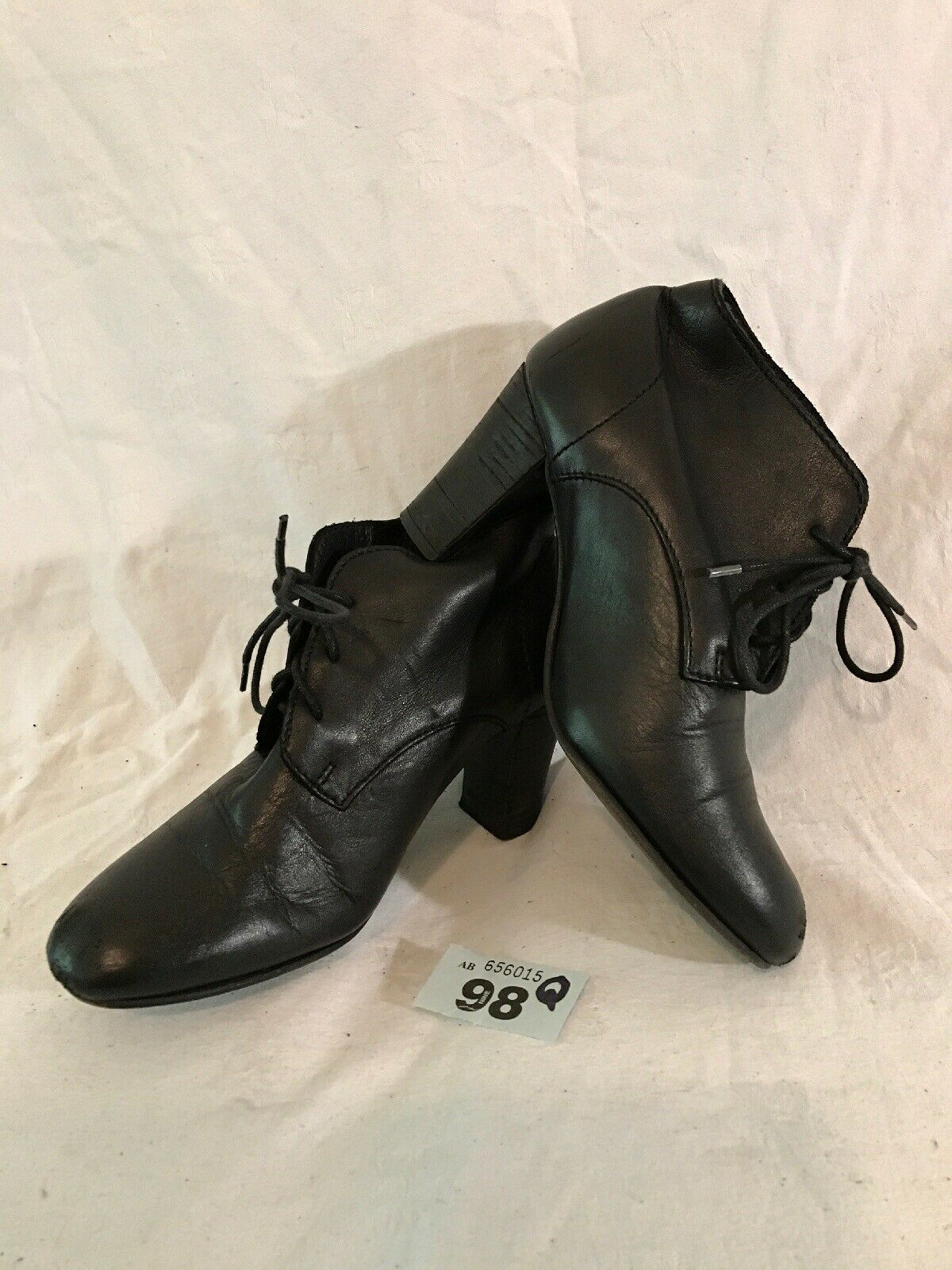 Minelli Black Ankle Leather Lovely Boots Size 36 (98Q)