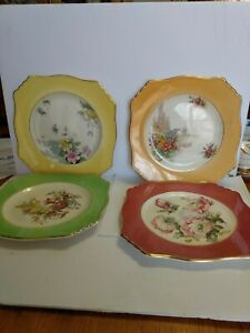 ROYAL-WINTON-GRIMWADES-DECORATIVE-PLATES-4-VINTAGE