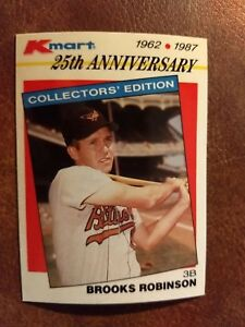 Details About 1987 Topps Kmart Stars Of The Decades Baseball Card 9 Brooks Robinson