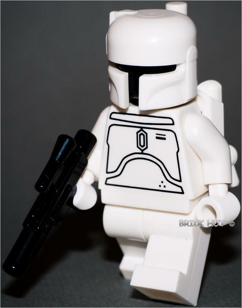 LEGO STAR WARS - Weiß BOBA FETT FIGURE - ULTRA RARE - FAST + GIFT - NEW