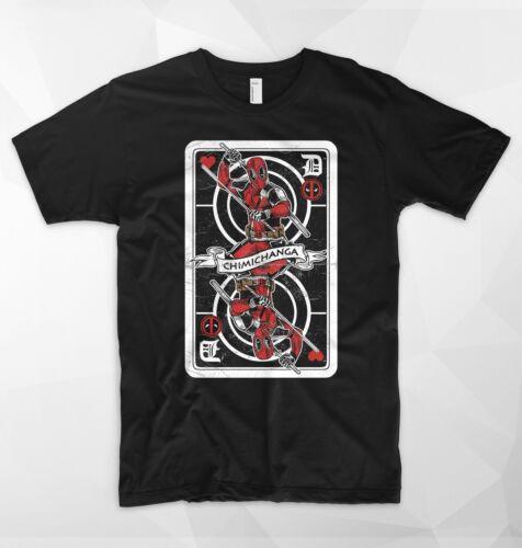 Deadpool T Shirt carte roi Caramba super héros Marvel cadeau Badass Comicon Tee