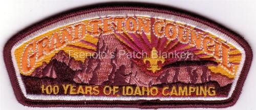 Grand Teton Council 2013 SA-376 Scout Summer Camp Staff Csp Mint Cond FREE SHIP