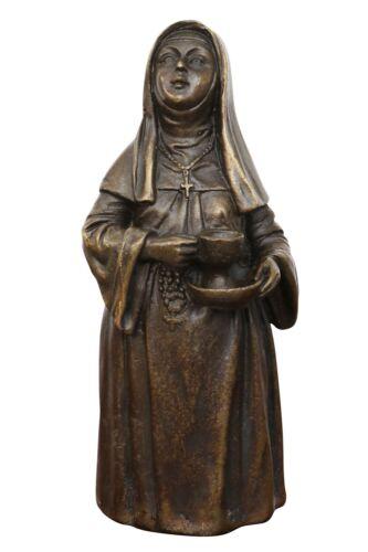 Table cloche bonne sœur statue de bronze sculpture figurine 12cm