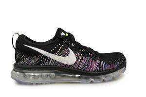 Details zu Damen Nike Air Max 2014 Flyknit 620659 007 Schwarz Weiß Grün Turnschuhe
