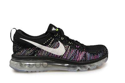 Womens Nike Air Max 2014 Flyknit 620659 007 Black White Green Trainers | eBay