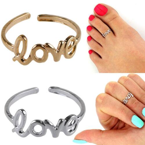 Women Fashion Toe Ring Simple Love Open Adjustable Foot Jewelry Beach UWUK