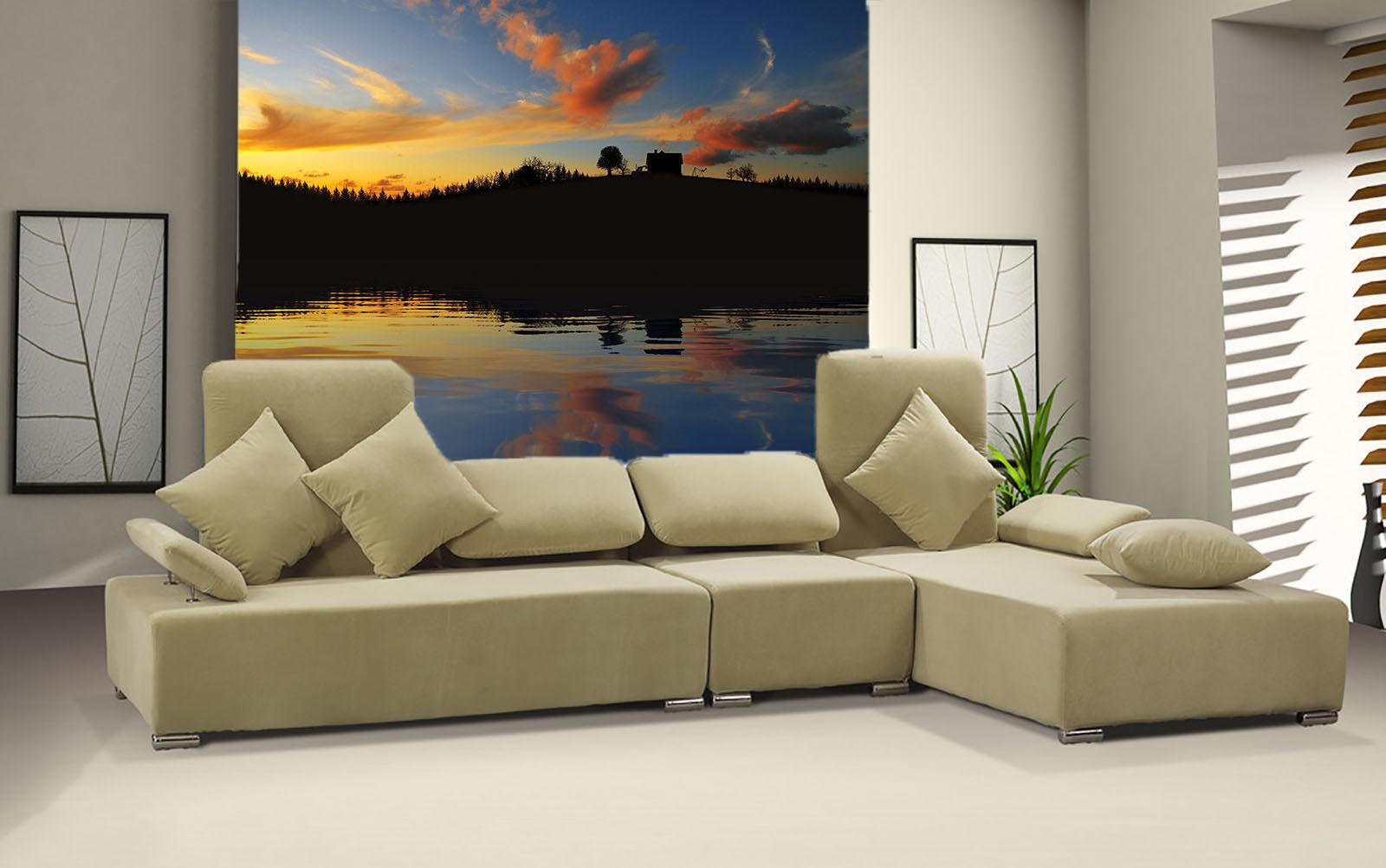 3D Twilight Hut Sea 7  Wall Paper Murals Wall Print Wall Wallpaper Mural AU Kyra
