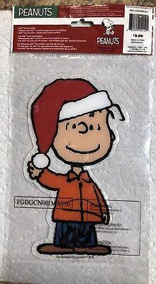 CHRISTMAS Peanuts WOODSTOCK  Window Gel Cling NIP