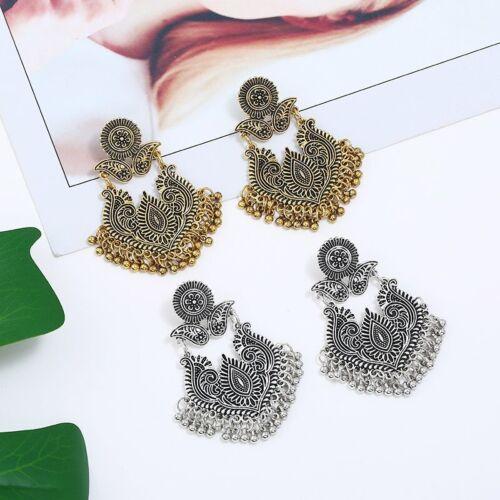 925 Silver Retro Women Moonlight Gemstone Ear Dangle Hook Earrings Jewelry Gift