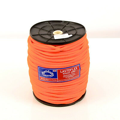 Orange 5mm Everlasto 'lastoflex' Elastic Bungee Shock Cord Various Lengths Boat Parts