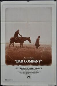 BAD-COMPANY-1972-ORIGINAL-27X41-MOVIE-POSTER-JEFF-BRIDGES-BARRY-BROWN-JIM-DAVIS