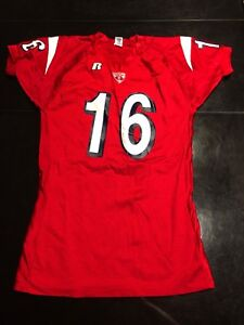 promo code 09ae2 c9184 Details about Game Worn Used Cornell Big Red Football Jersey Russell #16  Size XL